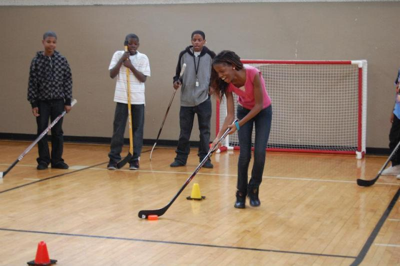 Girl Floor Hockey